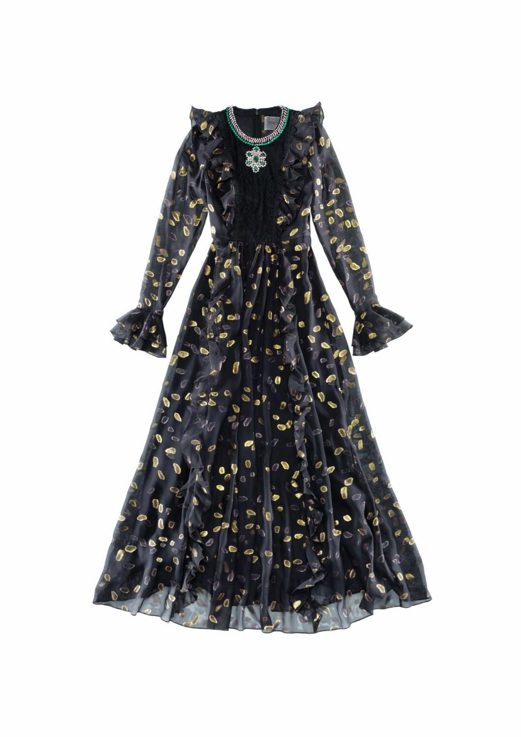 svart tyll-klänning