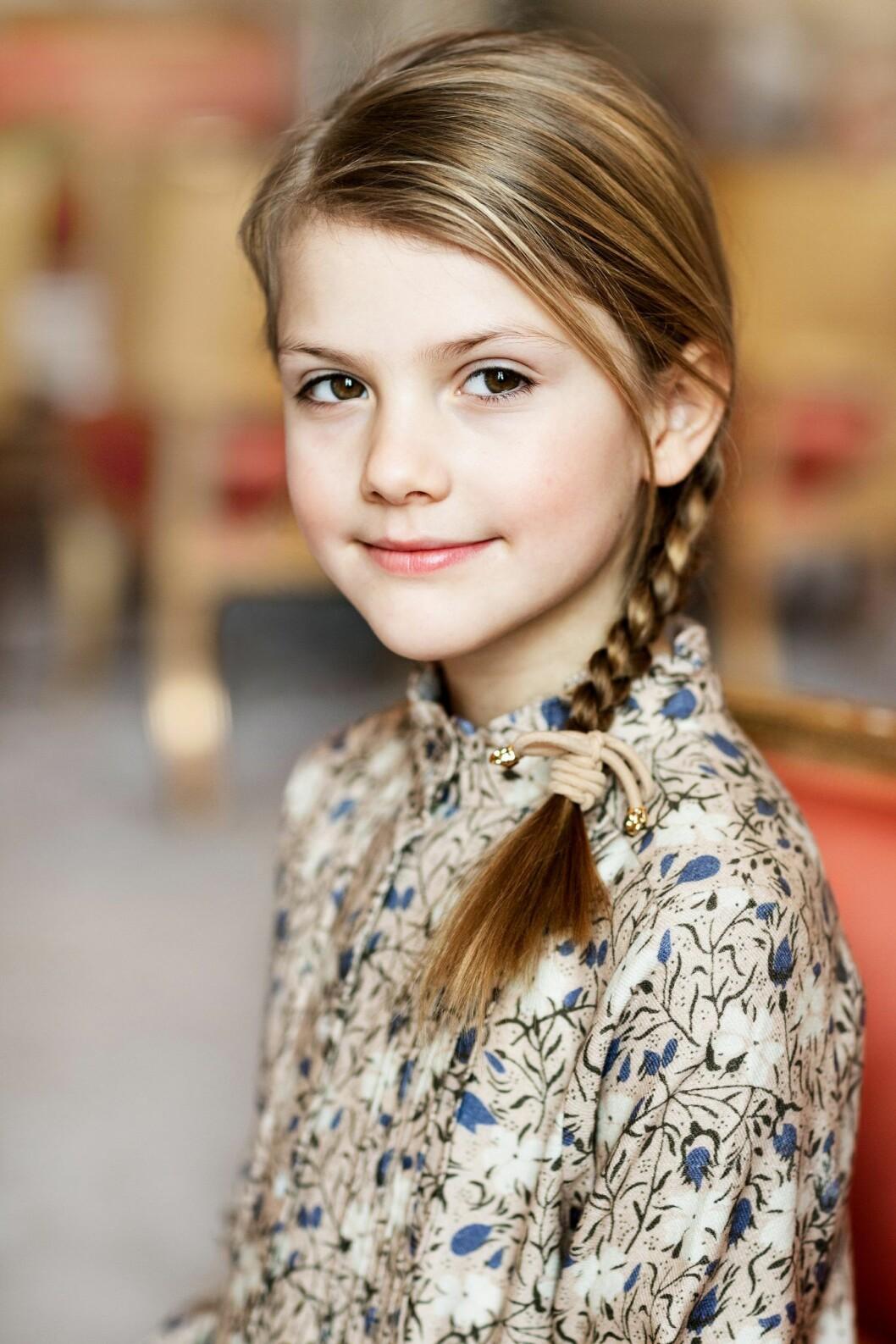 Prinsessan Estelle åtta år