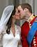 Prins William och Kate Middleton under deras bröllop 2011.