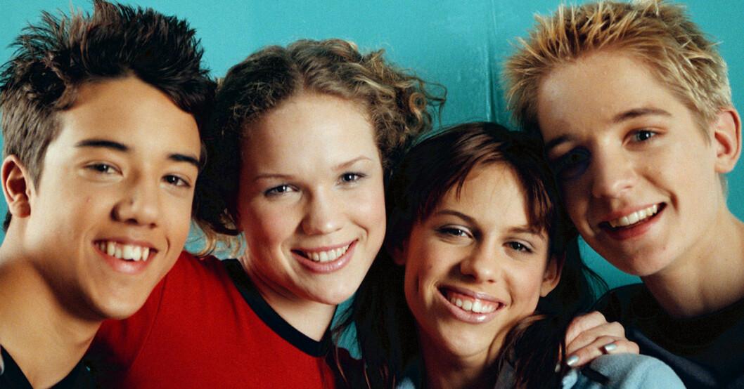 Amit Paul, Marie Serneholt, Sara Lumholdt och Dhani Lennevald i A-teens 1999.