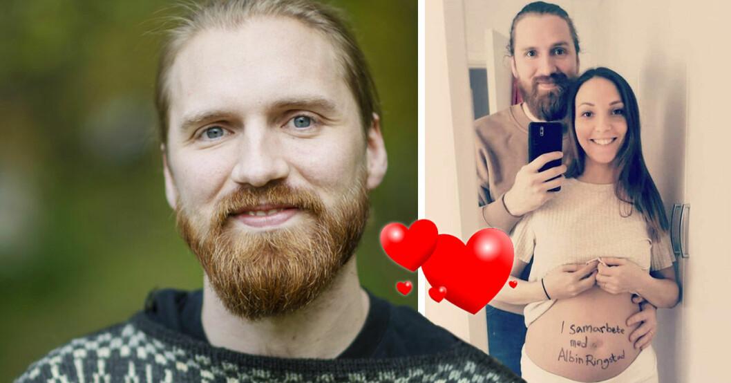 Albin Ringstad och Lena Bleckberg väntar barn.