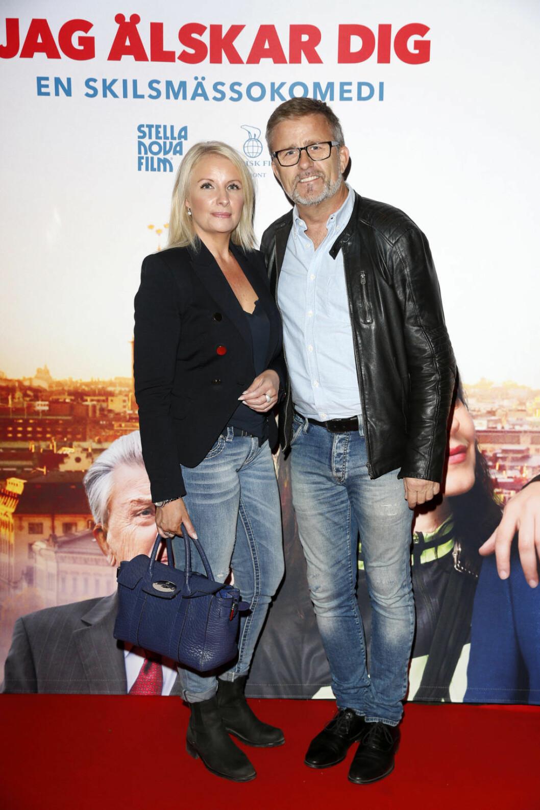 Jan Johansen med flickvännen Jenny Sandberg