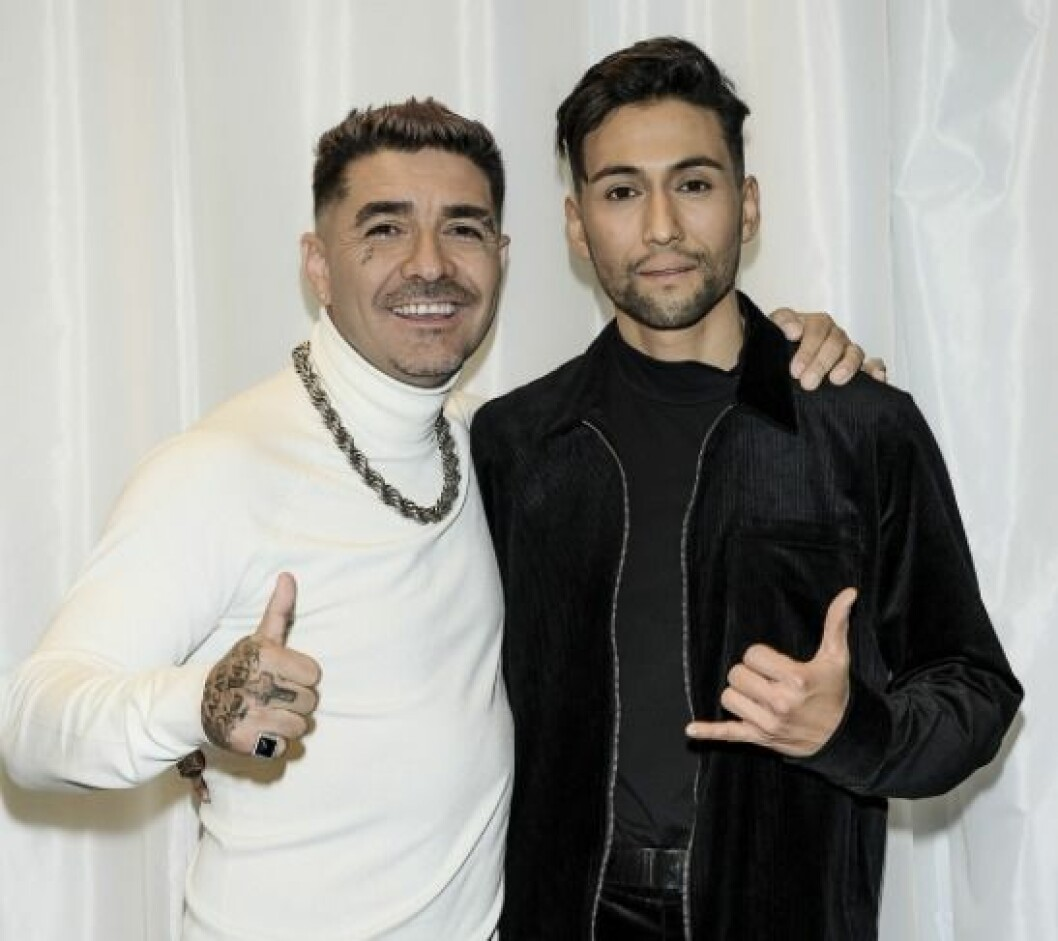 Méndez och Alvaro Estrella. inför Melodifestivalen 2020