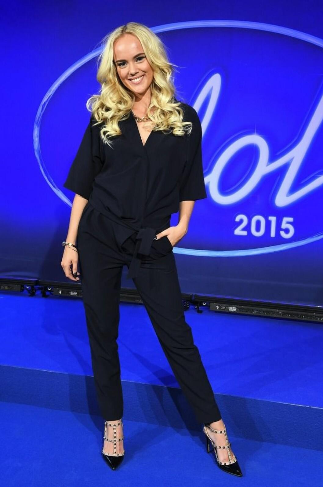 Amanda Winberg fotas inför Idol 2015.