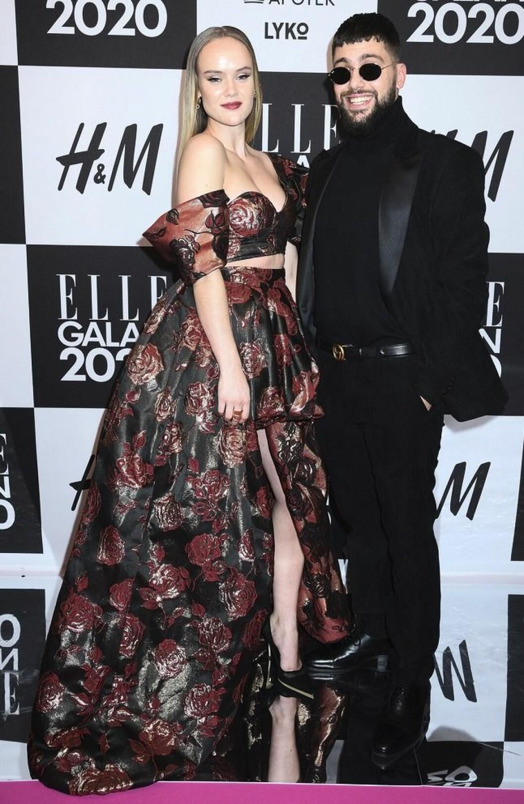 Simon Superti och Amanda Winberg på Elle-galan 2020