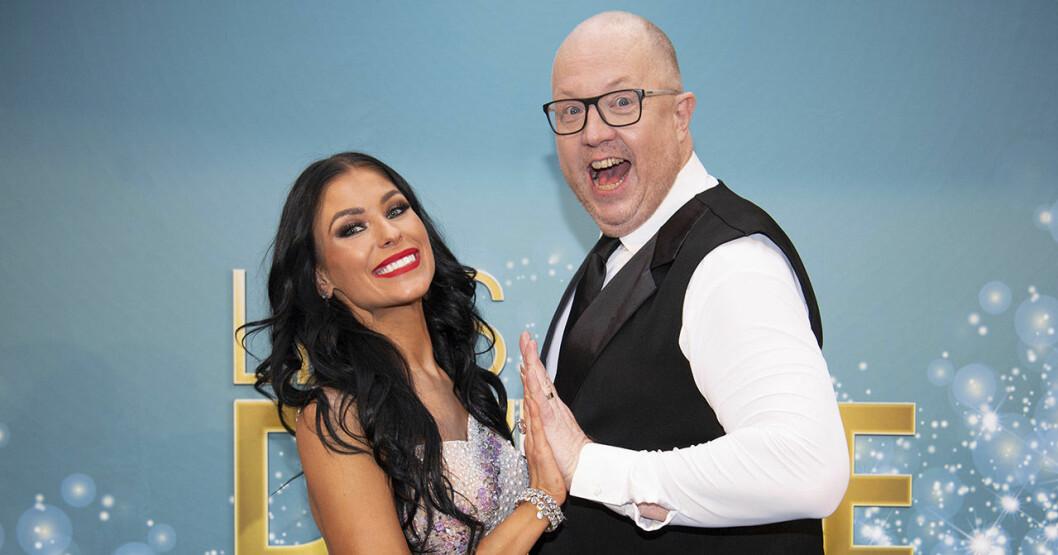 Anders Jansson och dansare Jasmine Takács som deltar i Let's Dance 2020 på TV4.
