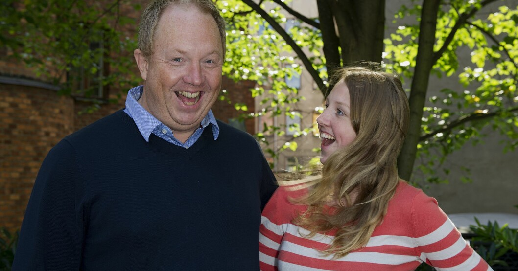 Anders Jansson och dotter Rebecca 2012.
