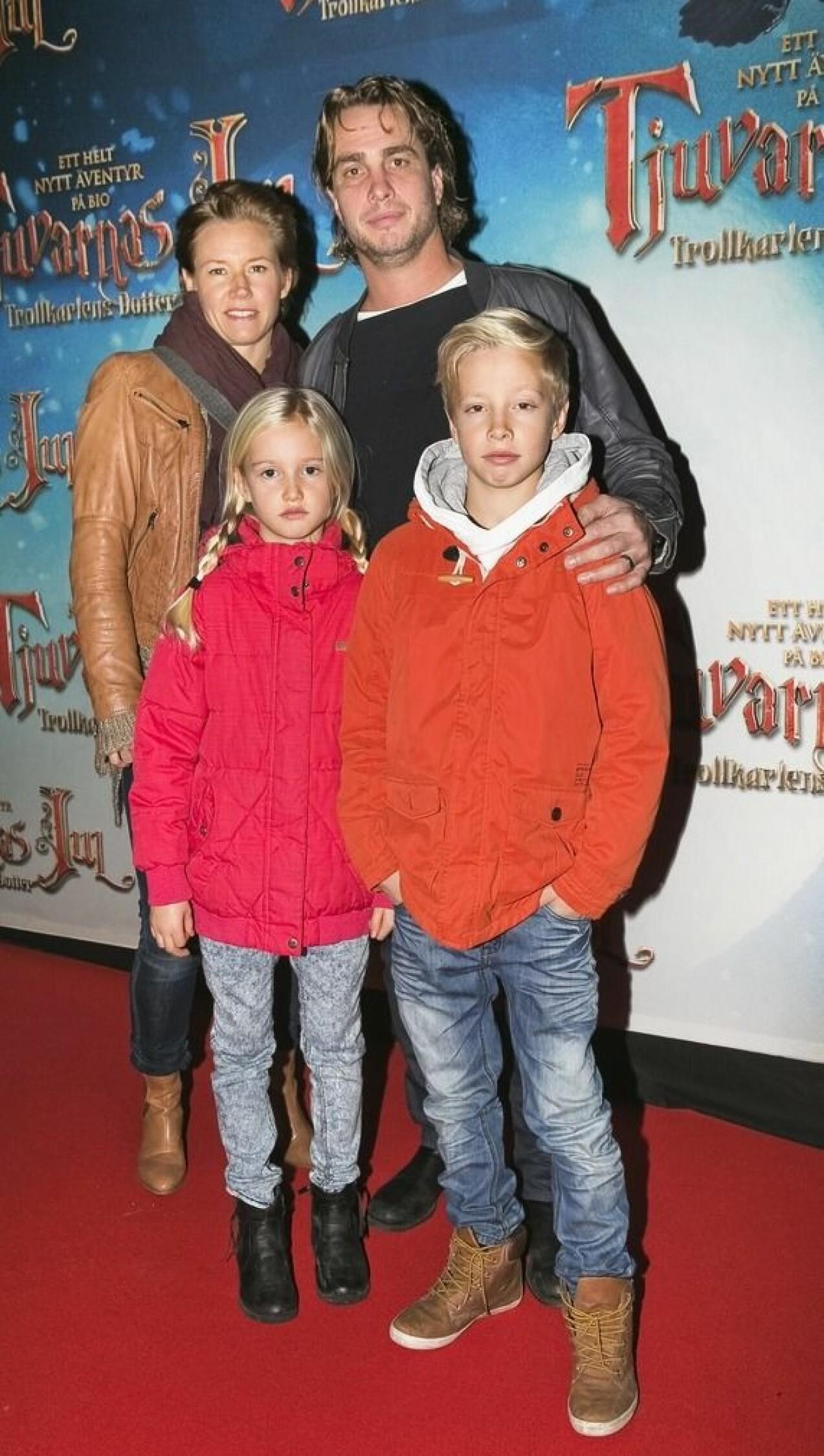 Anders Öfvergård med familj