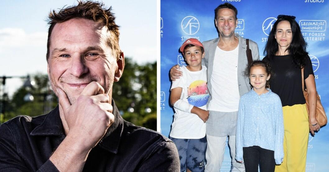 Anders Lundin med familj