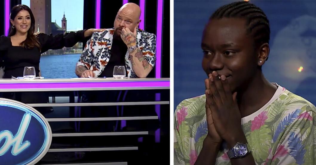"""17-åriga Tousin """"Tusse"""" Chiza får Anders Bagge att bli chockad."""