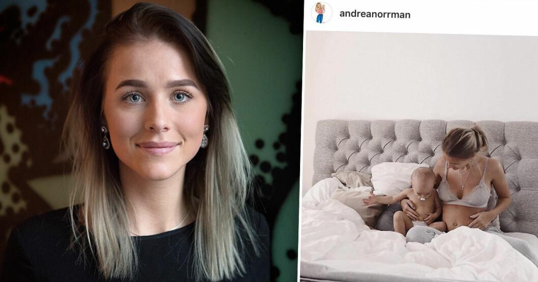 Andrea Norrman gravid igen