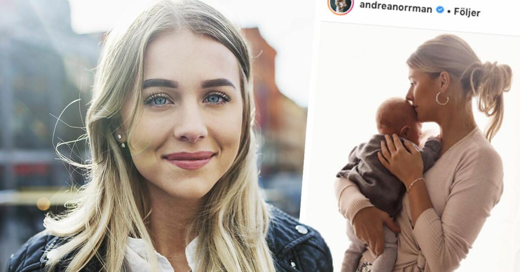 """Andrea Norrman avslöjar missen med namnvalet till sonen: """"Skulle aldrig"""""""