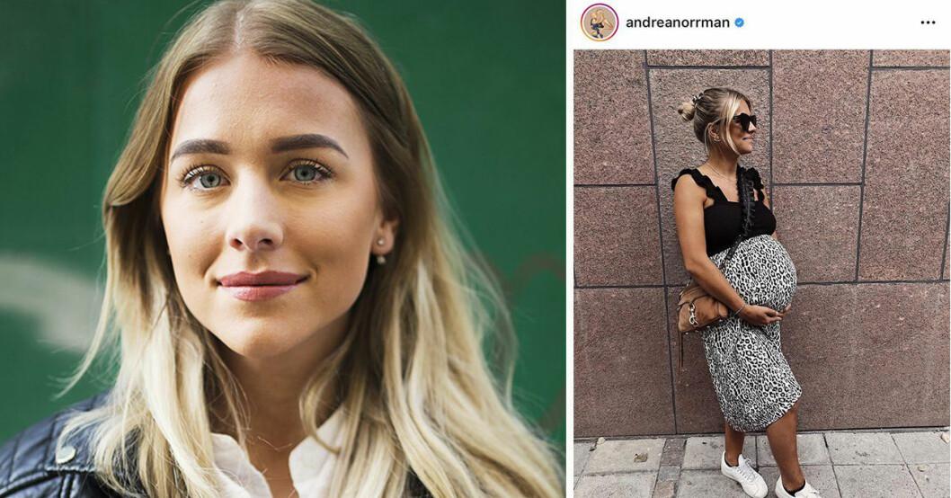 Gravida TV4-mamman Andrea Norrmans ord om smärtan – veckor innan förlossningen