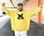 Anis don Demina i gul tröja