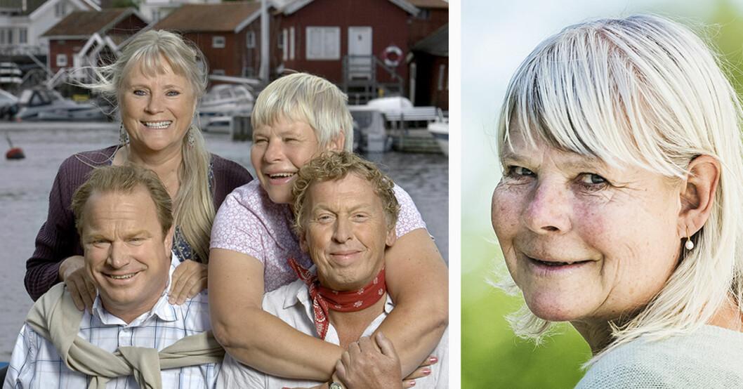 Anki Larsson med Saltön-kollegorna Ulla Skog, Claes Malmberg och Tomas von Brömssen.
