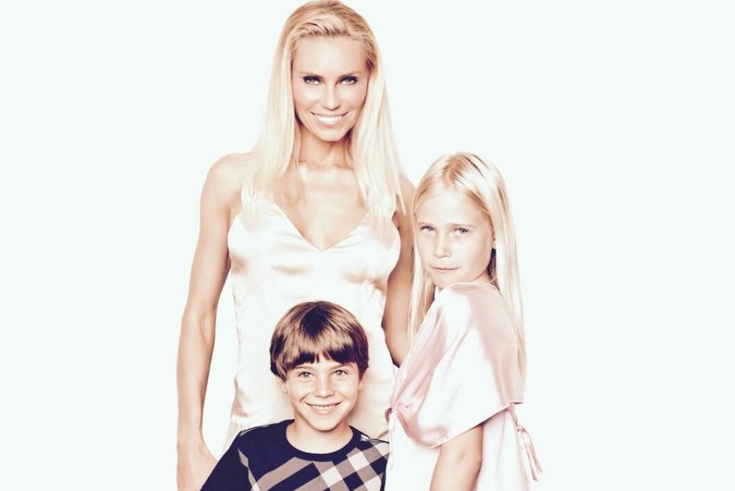 Anna Anka och barnen Ethan och Elli