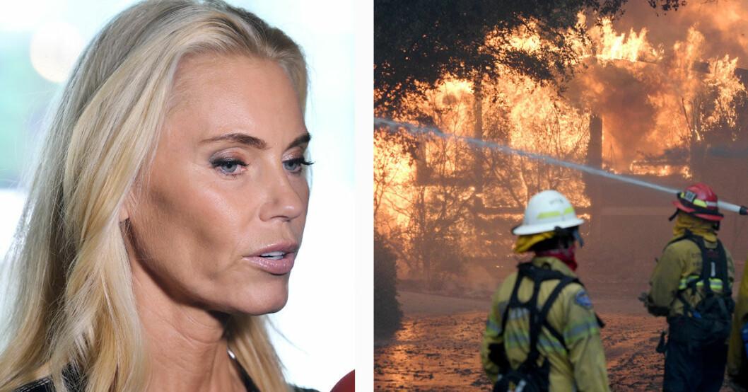 Anna Anka lämnade sitt hem i Westlake village för branden