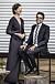 Anna Kindberg Batra skrattar tillsammans med maken David Batra
