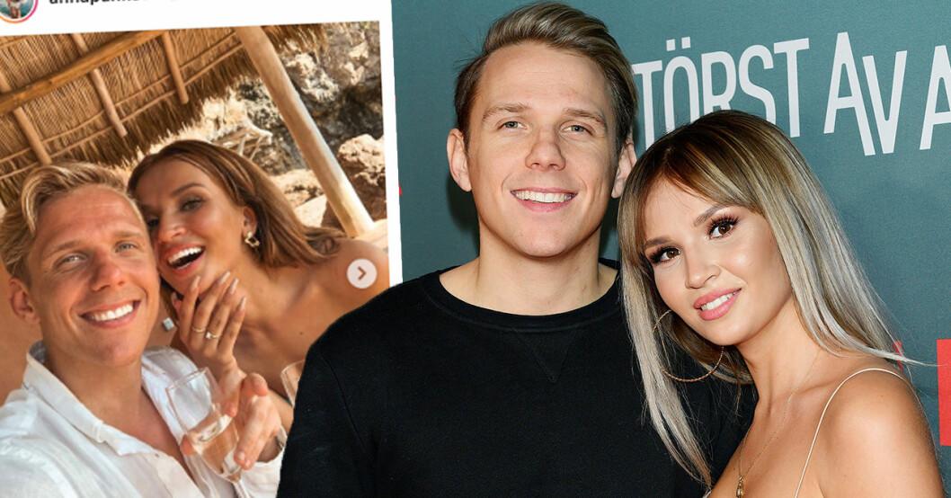 Anna Pankova och Kristian Täljeblad från Paradise hotel har förlovat sig