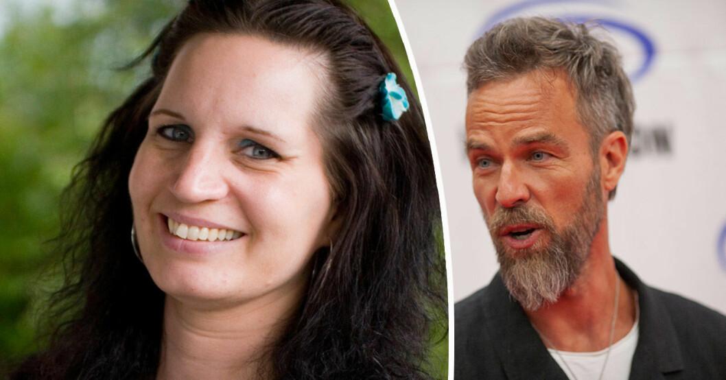 Familjen annorlunda-Tina Johansson och skådespelaren JR Bourne.