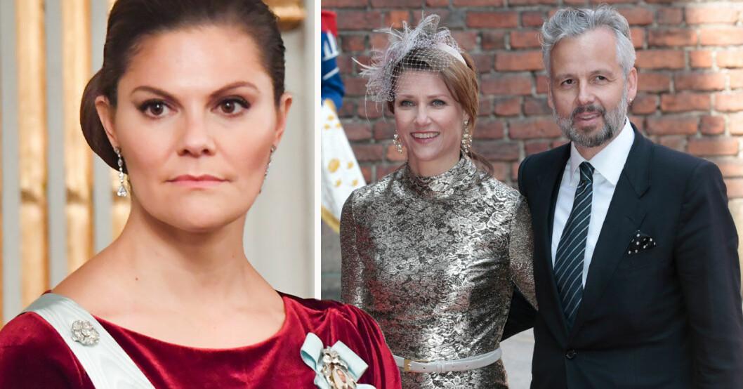 Kronprinsessan Victoria, prinsessan Märtha Louise och Ari Behn