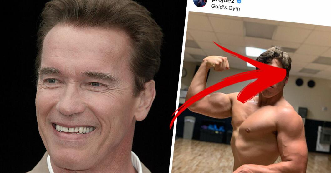 Arnolds son är väldigt lik honom.