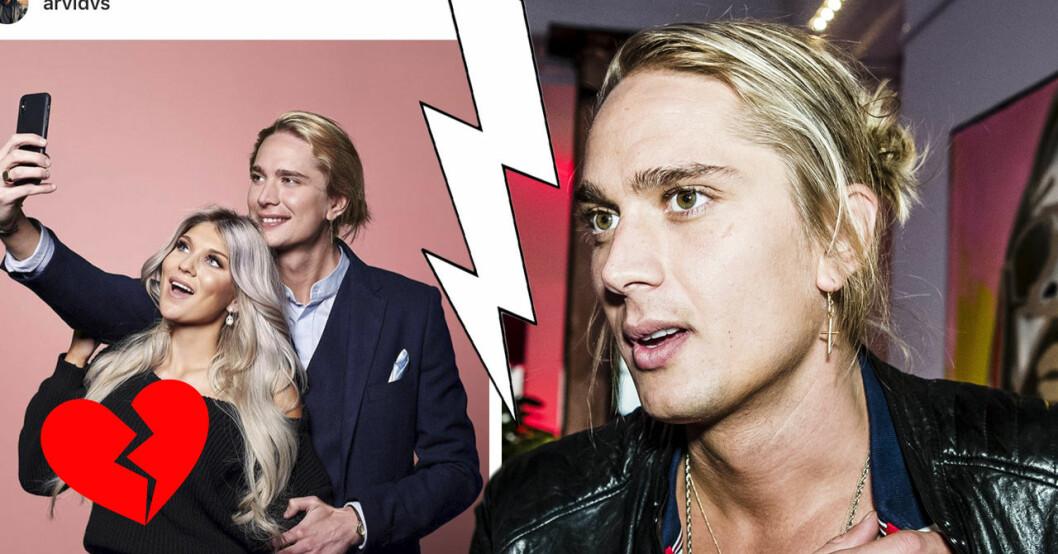 """Arvid Stenbäcken bekräftar uppbrottet från Gabriella """"Bella"""" Andersson."""