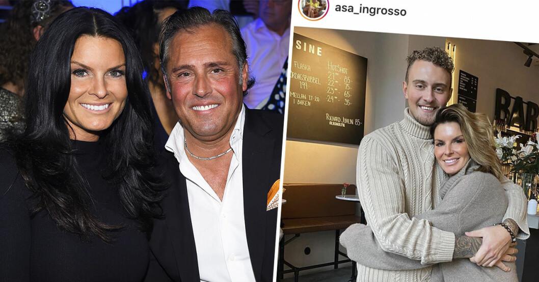 Åsa Ingrosso och Emilio Ingrosso samt Åsas son Anton