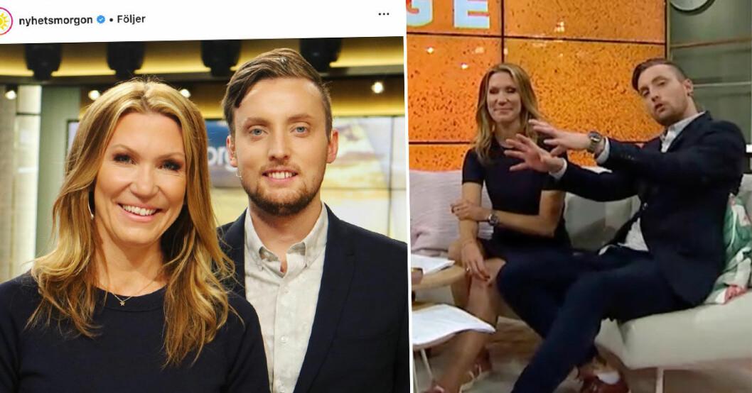 Axel Pileby hyllas som programledare i Nyhetsmorgon