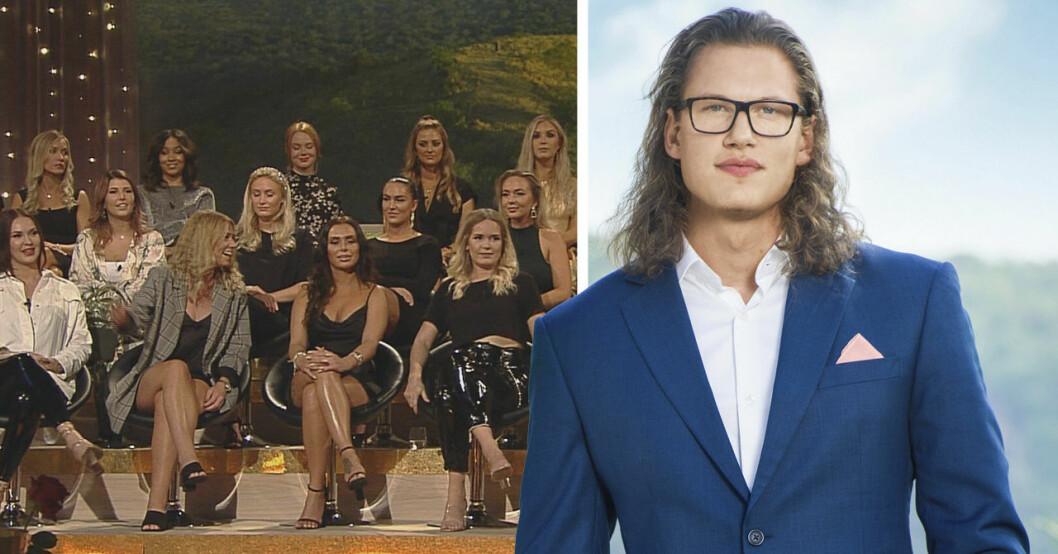 Felix Almsved och tjejer från Bachelor 2019.