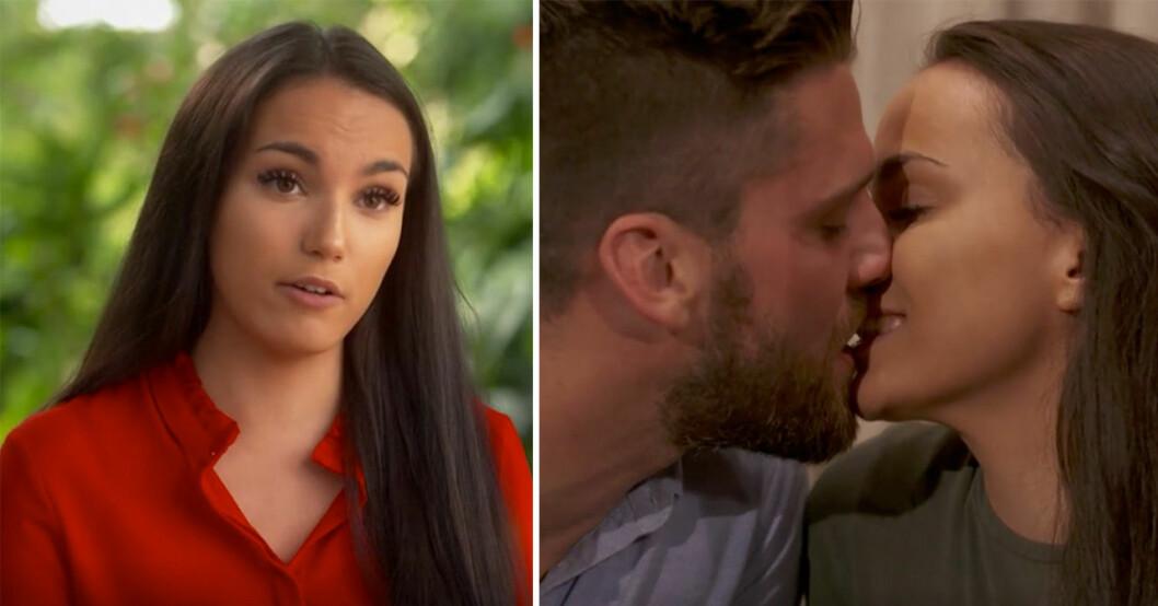 Bachelor-Simon överaskas av sitt ex Olivia i kvällens program.