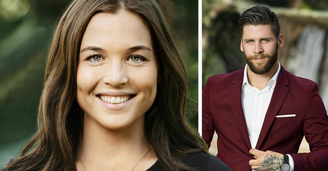 Linn Helesdotter och Simon Hermansson i Bachelor.