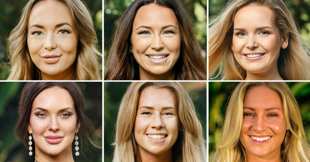 Isabella Englund, Johanna Ohlsson, Amanda Koskela, Emmy Rönning, Hannah Forsdahl, Eleonor Lagerkvist i Bachelor 2019.