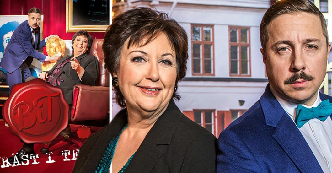 Programledare David Sundin och Babben Larsson 2021