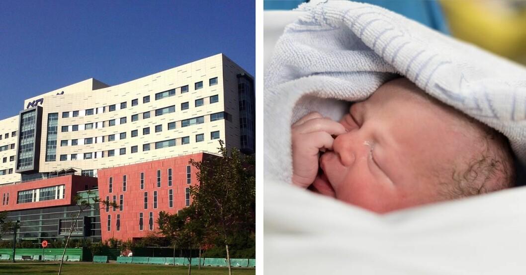 Bebis föddes med foster i magen