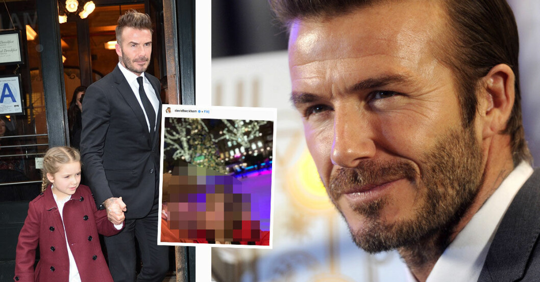 David Beckham och dottern Harper