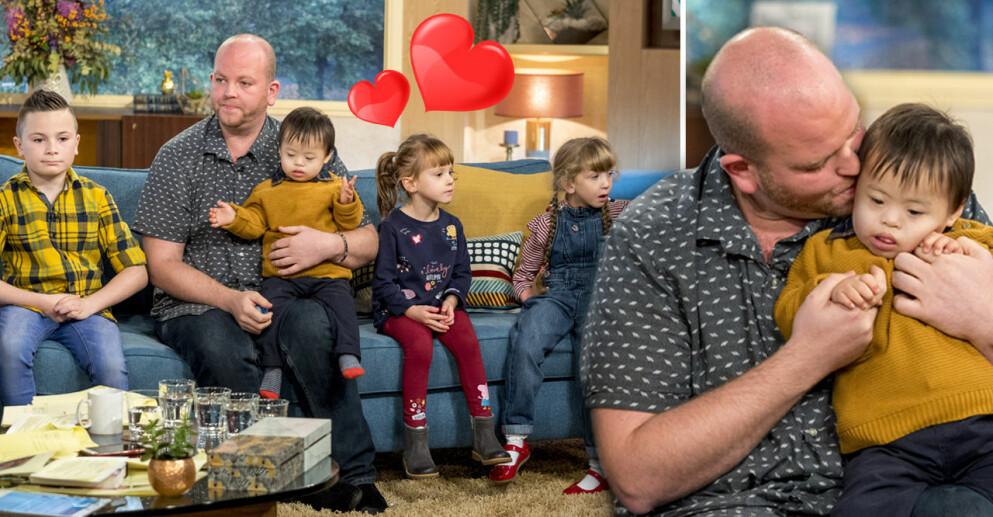 Singelpappan Ben Carpenter har adopterat sex barn med särskilda behov.