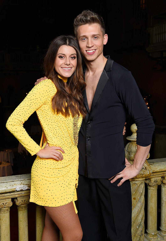 En bild på Bianca Ingrosso och Alexander Svanberg i Let's dance 2016.