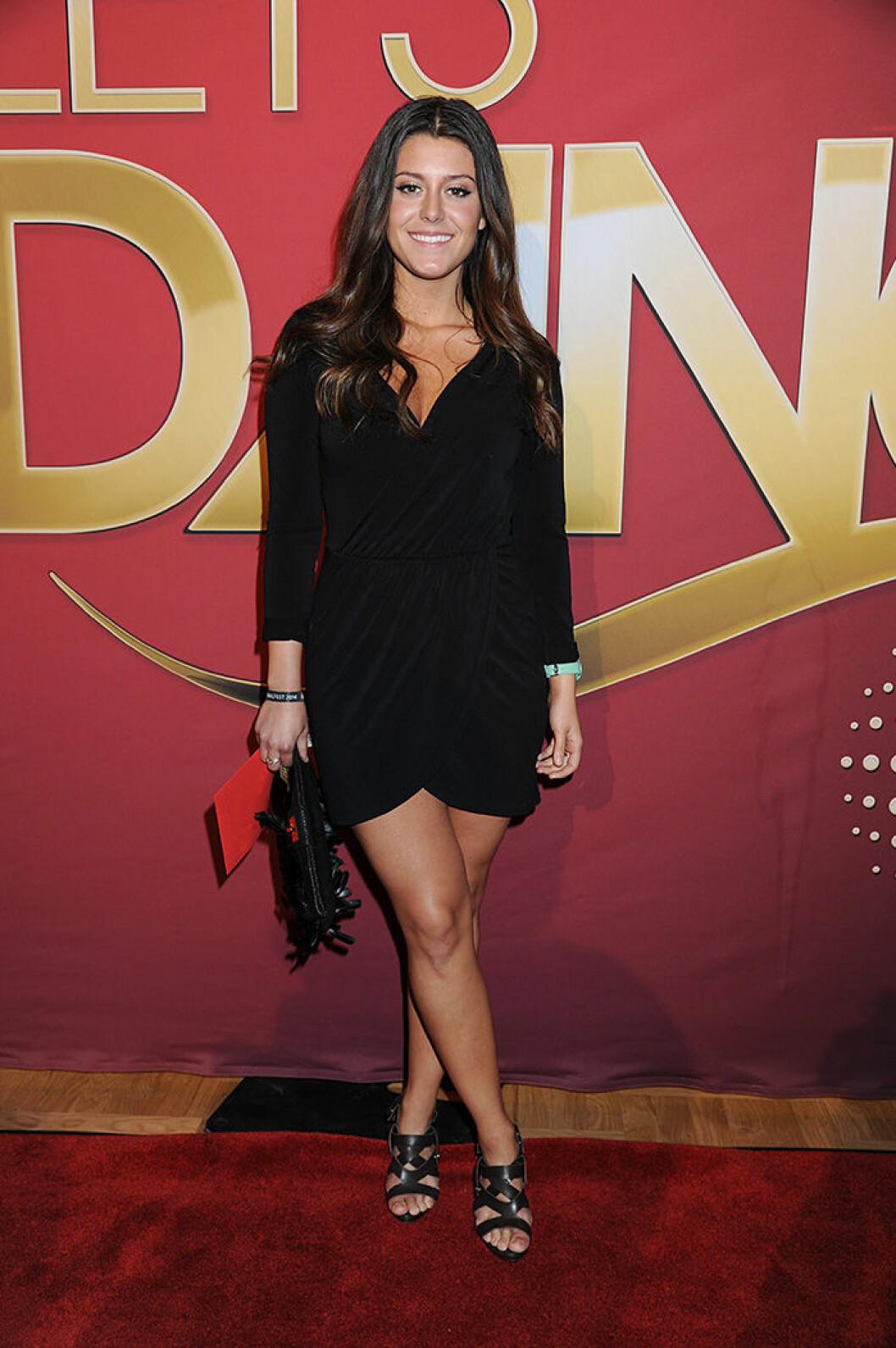 En bild på Bianca Ingrosso på Let's Dance final 2014.