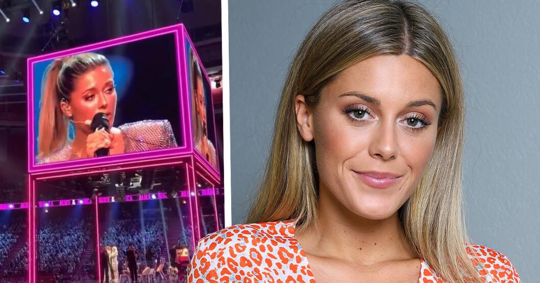 Bianca Ingrosso hyllas efter sången i Globen