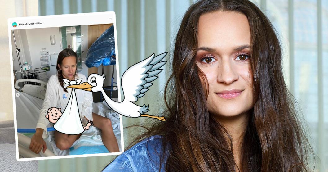 Bianca Kronlöf har blivit mamma – första orden om bebislyckan