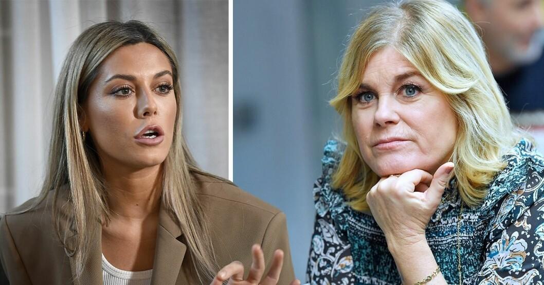 Bianca Ingrosso och Pernilla Wahlgren
