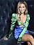 Bianca Ingrosso med grönblå klänning
