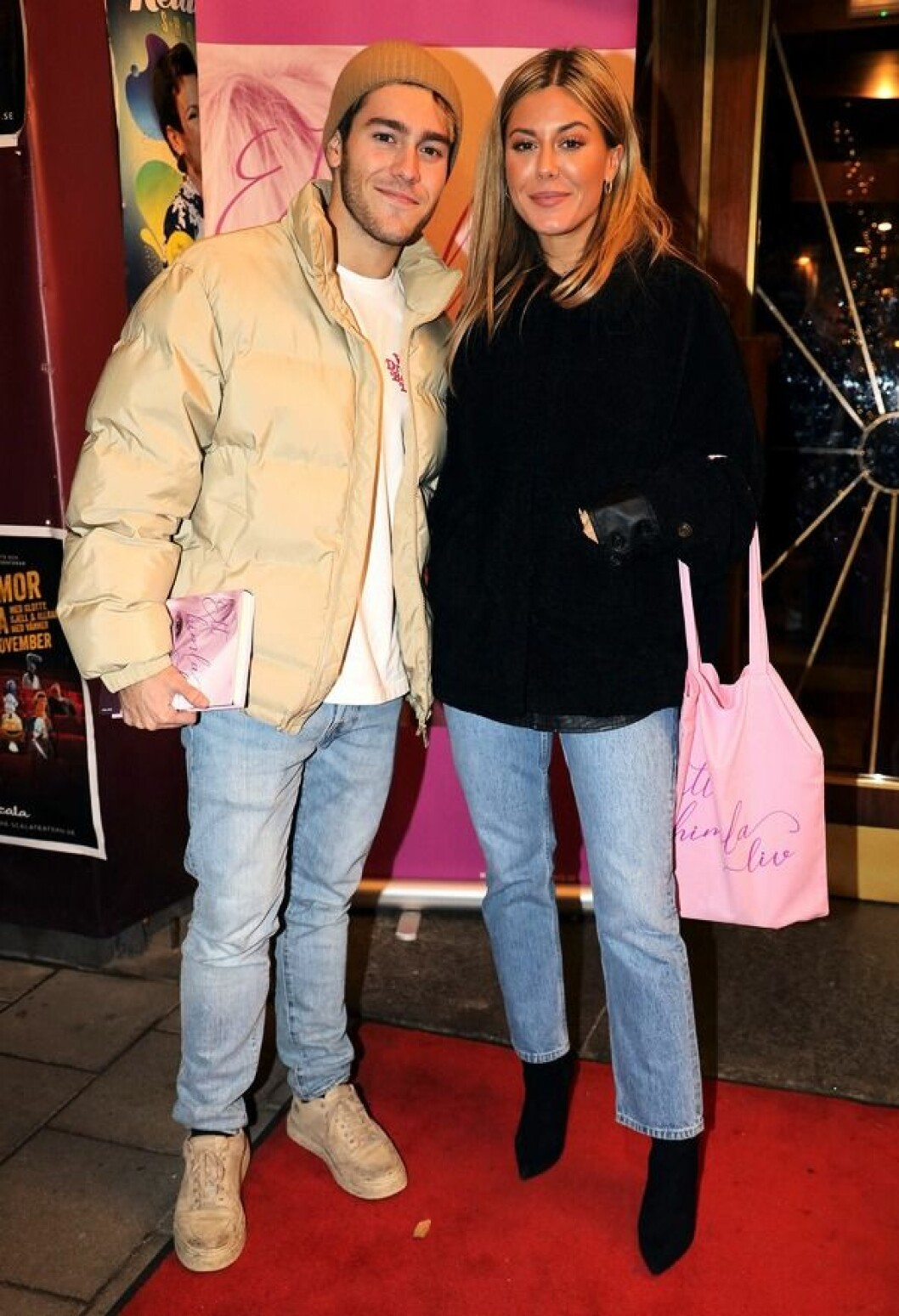 Benjamin Ingrosso och Bianca Ingrosso på röda mattan