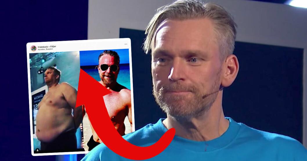Michael Fridebäcks ord om kroppsförändringen – 2 år efter Biggest loser