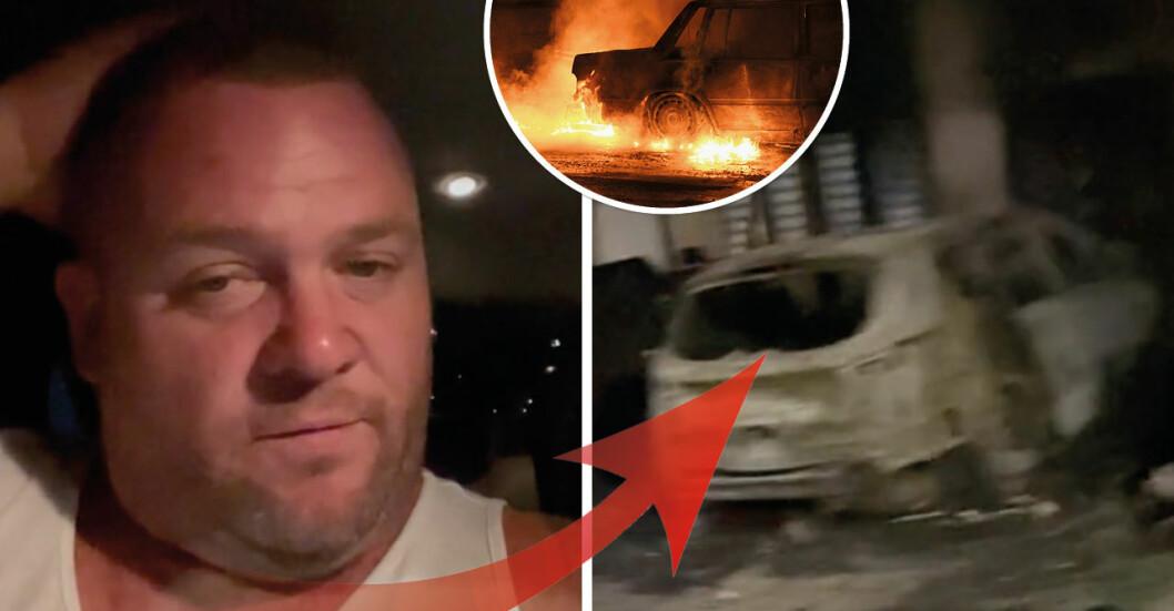 TikTok-familjens bil sattes i brand efter att deras adress läckt ut.