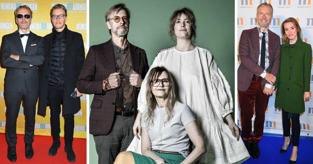 Ernst Billgren, Sigge Billgren, Elsa Billgren och Julia Billgren. Äkta Billgrens.