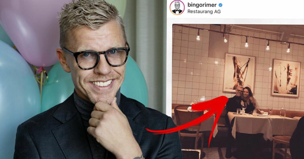 Bingo Rimér på en andra dejt med en av kvinnorna han dejtade i Viafrees Live date.