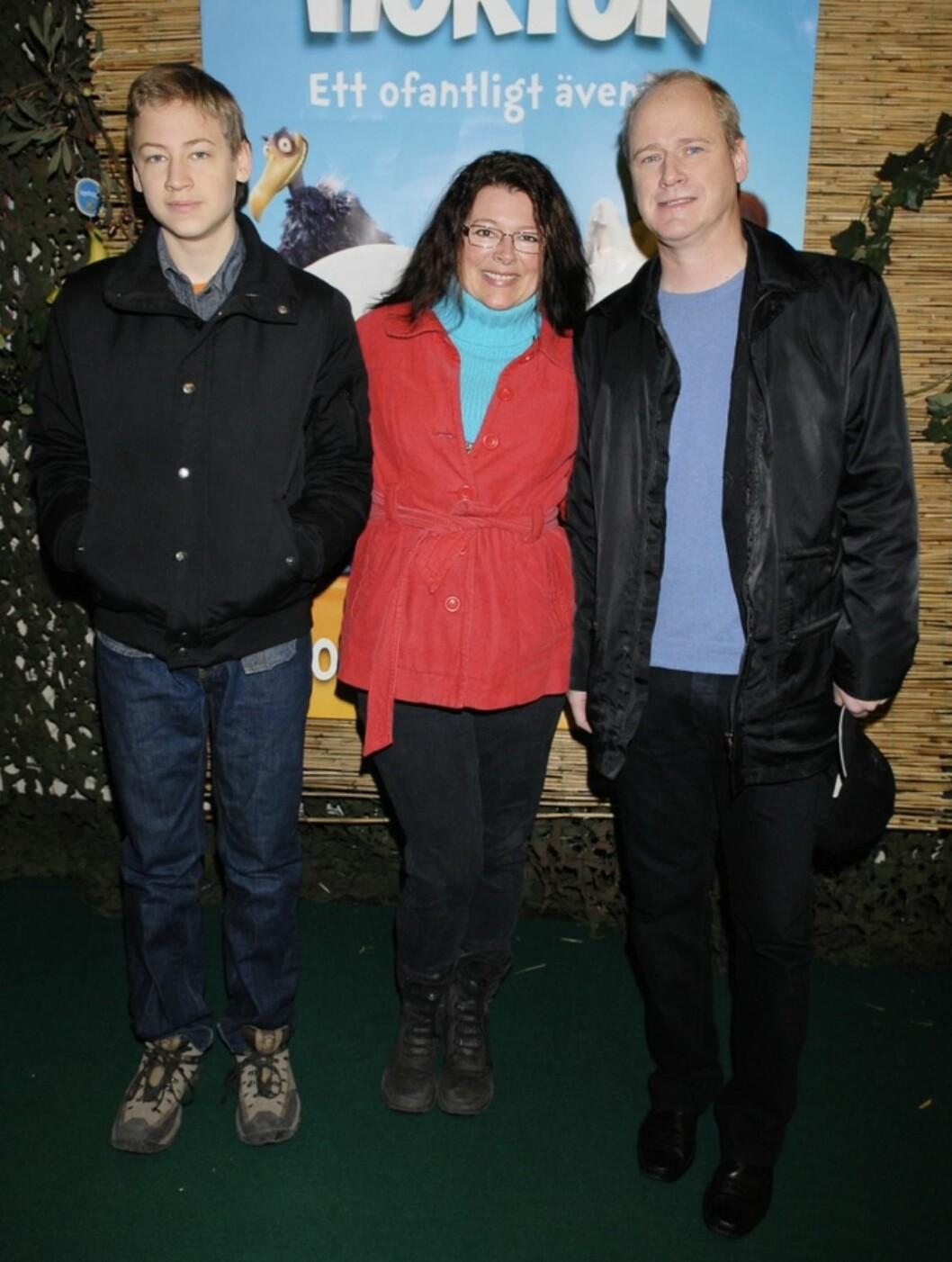 Robert Gustafsson med frun Lotta och sonen John