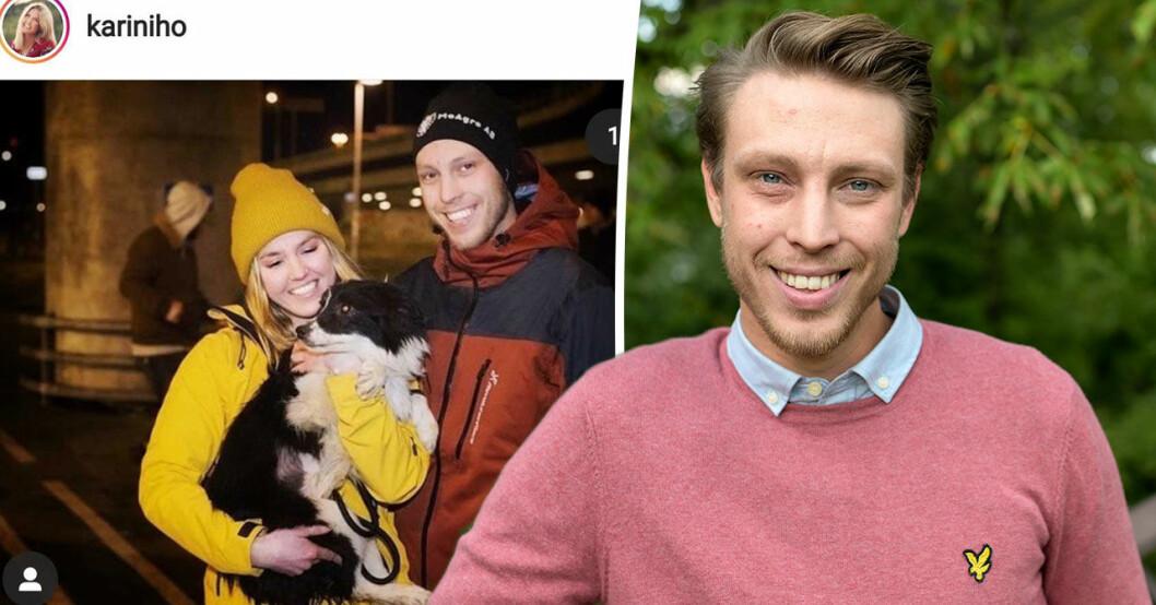 Bonde söker fru-Karin och Pelle om sin nya hund.